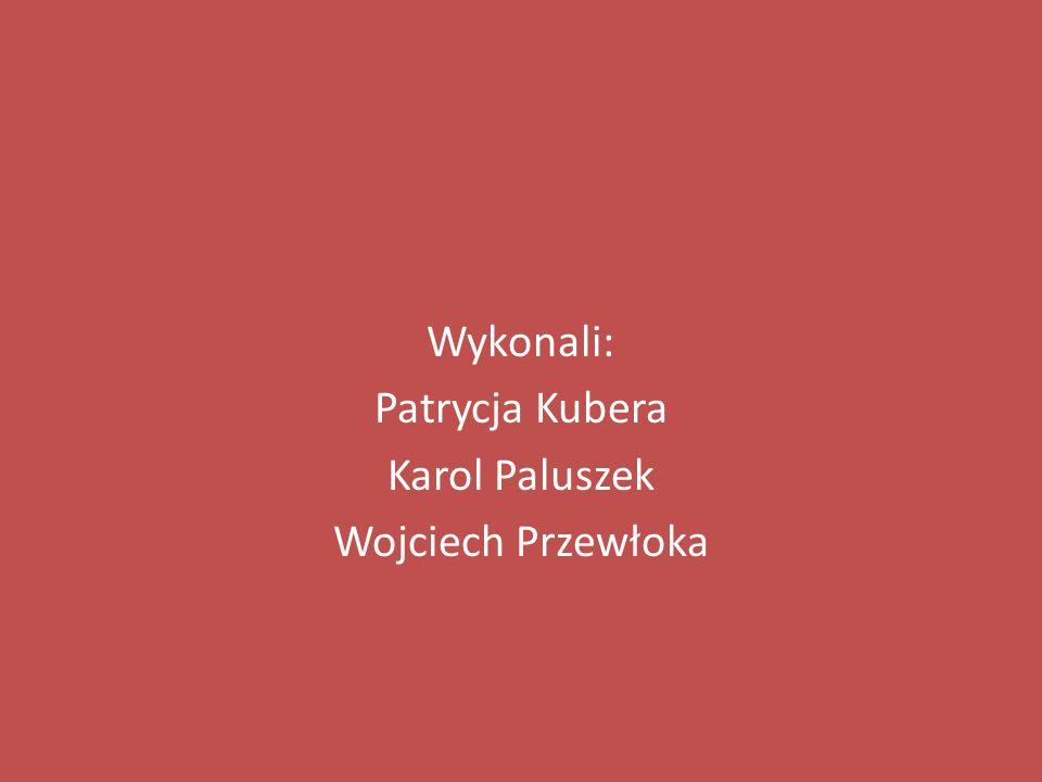 Wykonali: Patrycja Kubera Karol Paluszek Wojciech Przewłoka
