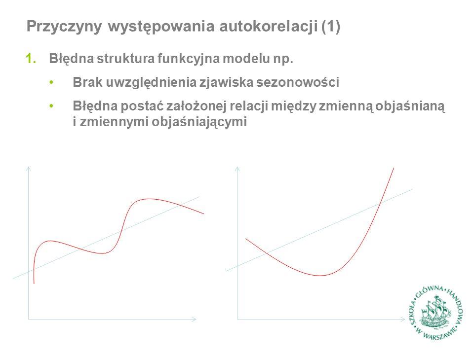 1.Błędna struktura funkcyjna modelu np.