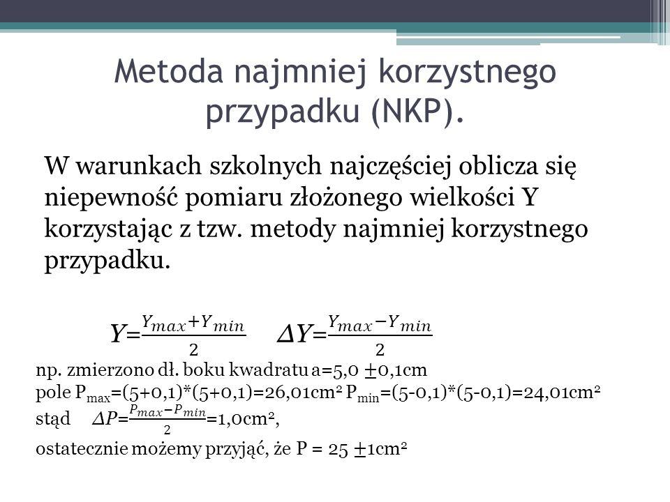 Metoda najmniej korzystnego przypadku (NKP).