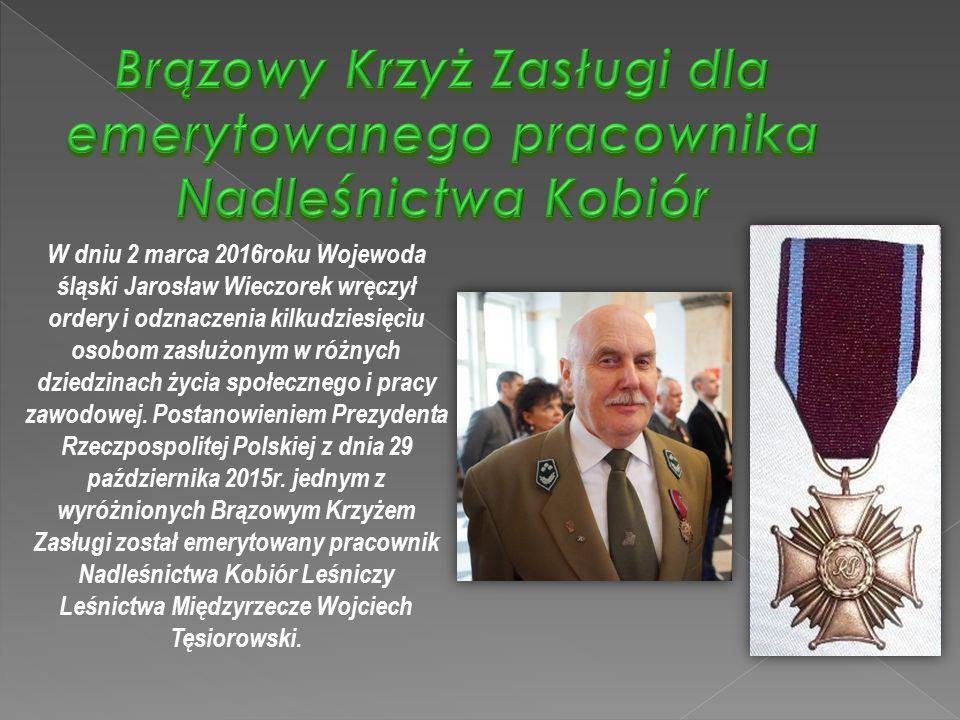 W dniu 2 marca 2016roku Wojewoda śląski Jarosław Wieczorek wręczył ordery i odznaczenia kilkudziesięciu osobom zasłużonym w różnych dziedzinach życia społecznego i pracy zawodowej.