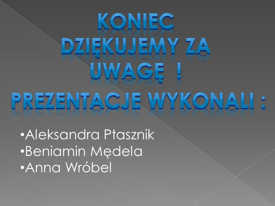 Aleksandra Ptasznik Beniamin Mędela Anna Wróbel