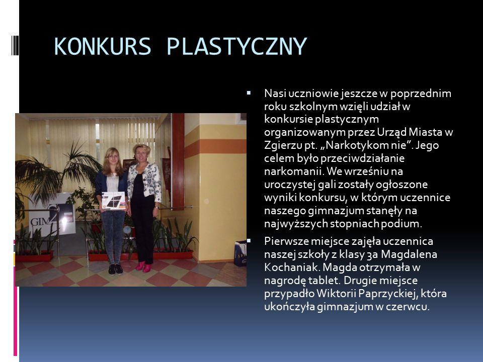KONKURS PLASTYCZNY  Nasi uczniowie jeszcze w poprzednim roku szkolnym wzięli udział w konkursie plastycznym organizowanym przez Urząd Miasta w Zgierzu pt.