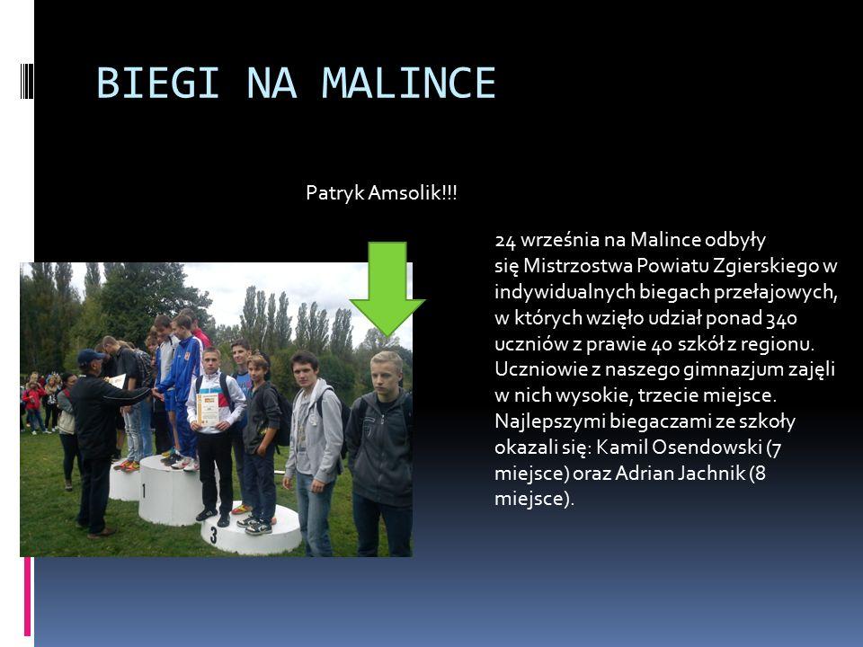BIEGI NA MALINCE Patryk Amsolik!!.
