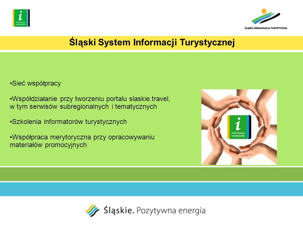Sieć współpracy Współdziałanie przy tworzeniu portalu slaskie.travel, w tym serwisów subregionalnych i tematycznych Szkolenia informatorów turystycznych Współpraca merytoryczna przy opracowywaniu materiałów promocyjnych Śląski System Informacji Turystycznej