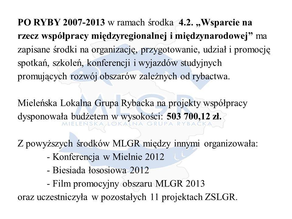 PO RYBY 2007-2013 w ramach środka 4.2.