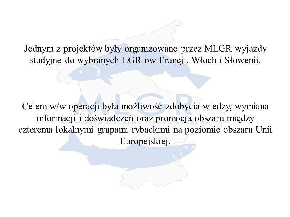 Jednym z projektów były organizowane przez MLGR wyjazdy studyjne do wybranych LGR-ów Francji, Włoch i Słowenii.