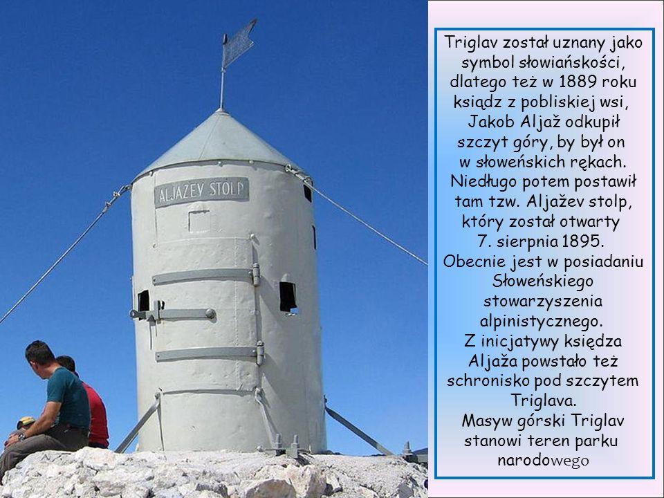 Triglav (2864 m n.p.m.) – najwyższy szczyt Alp Julijskich (część Alp Wschodnich).