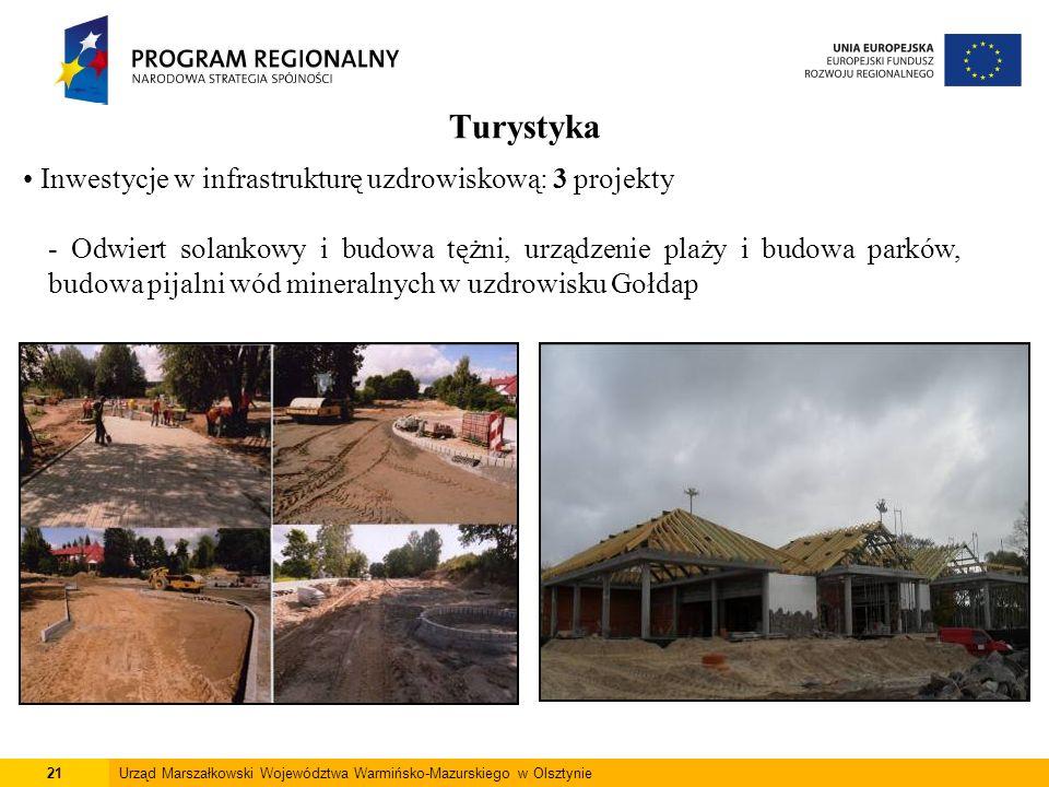 21Urząd Marszałkowski Województwa Warmińsko-Mazurskiego w Olsztynie Turystyka Inwestycje w infrastrukturę uzdrowiskową: 3 projekty - Odwiert solankowy