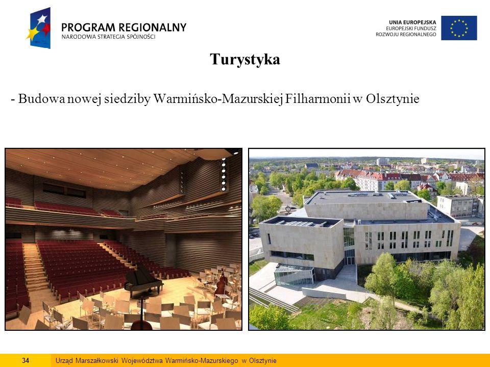 34Urząd Marszałkowski Województwa Warmińsko-Mazurskiego w Olsztynie Turystyka - Budowa nowej siedziby Warmińsko-Mazurskiej Filharmonii w Olsztynie