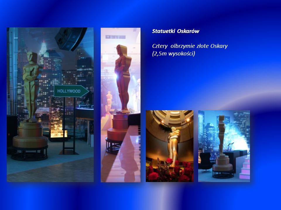 Statuetki Oskarów Cztery olbrzymie złote Oskary (2,5m wysokości)