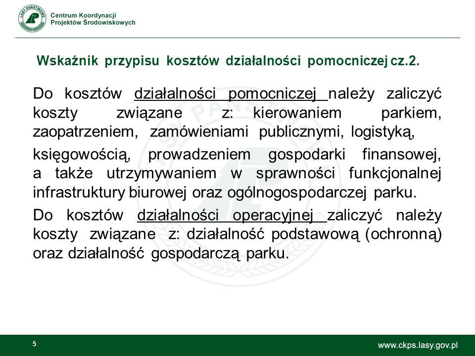 5 Wskaźnik przypisu kosztów działalności pomocniczej cz.2.