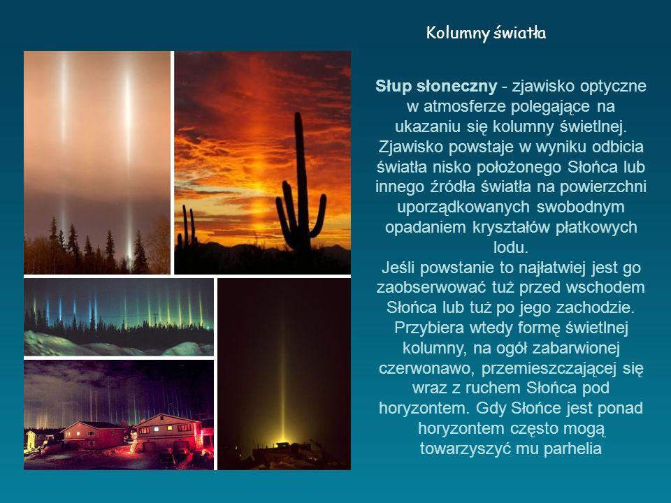 Słup słoneczny - zjawisko optyczne w atmosferze polegające na ukazaniu się kolumny świetlnej.