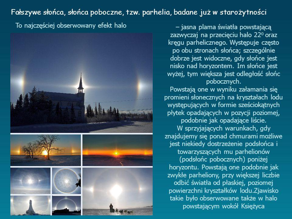 – jasna plama światła powstającą zazwyczaj na przecięciu halo 22 0 oraz kręgu parhelicznego.