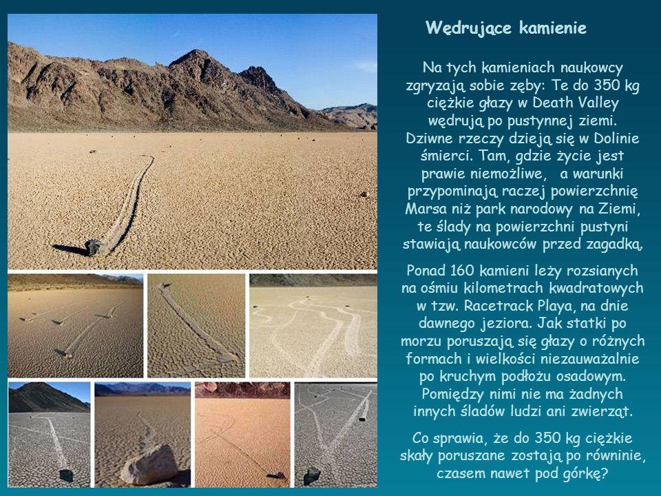 Na tych kamieniach naukowcy zgryzają sobie zęby: Te do 350 kg ciężkie głazy w Death Valley wędrują po pustynnej ziemi.