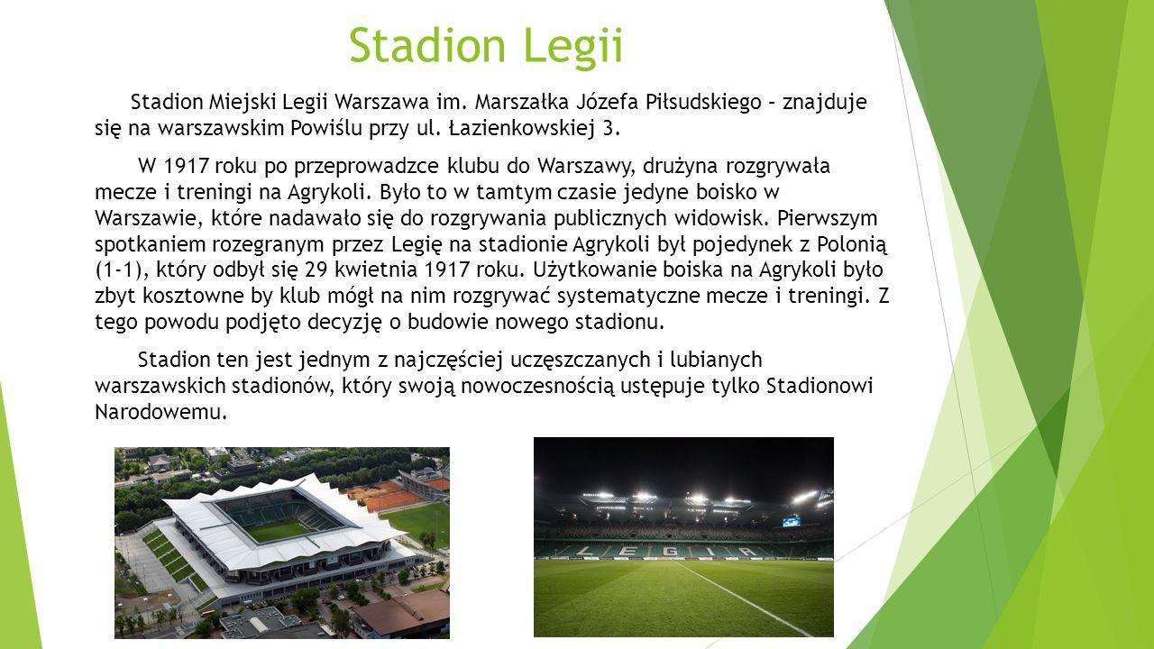 Stadion Polonii Stadion Polonii Warszawa użytkowany przez najstarszy w Warszawie klub piłkarski o tej samej nazwie i mieści się na Muranowie przy ul.