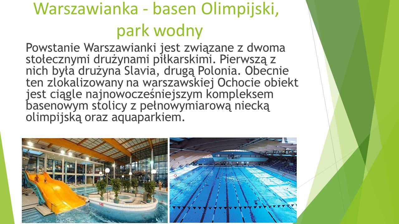 Basen odkryty Moczydło Park Wodny Moczydło, to umieszczony na Woli kompleks rekreacyjno - wypoczynkowy.