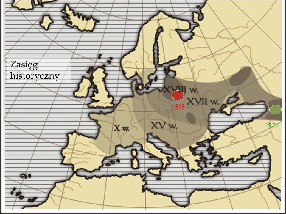 Zasięg historyczny 1919 1926
