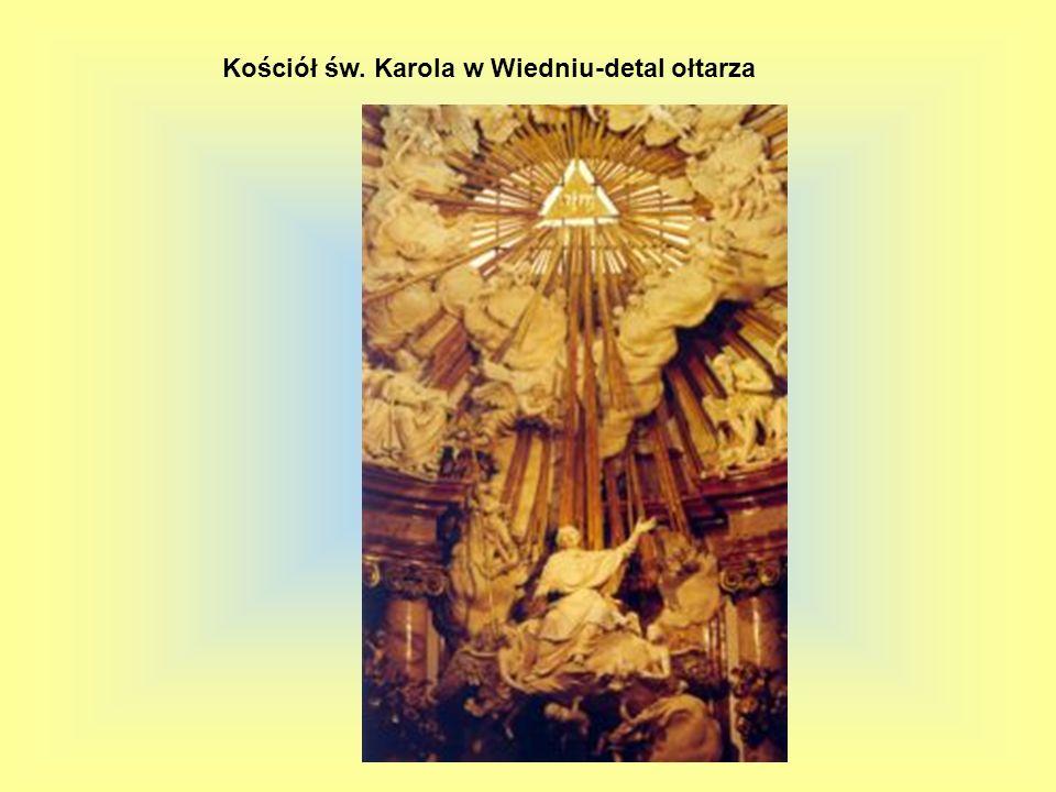 Kościół św. Karola w Wiedniu-detal ołtarza