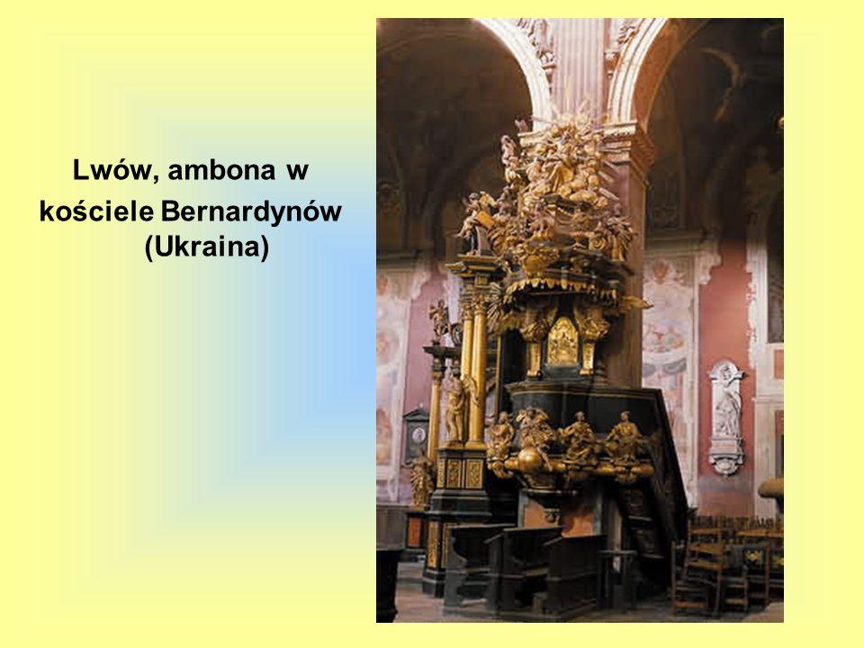 Lwów, ambona w kościele Bernardynów (Ukraina)