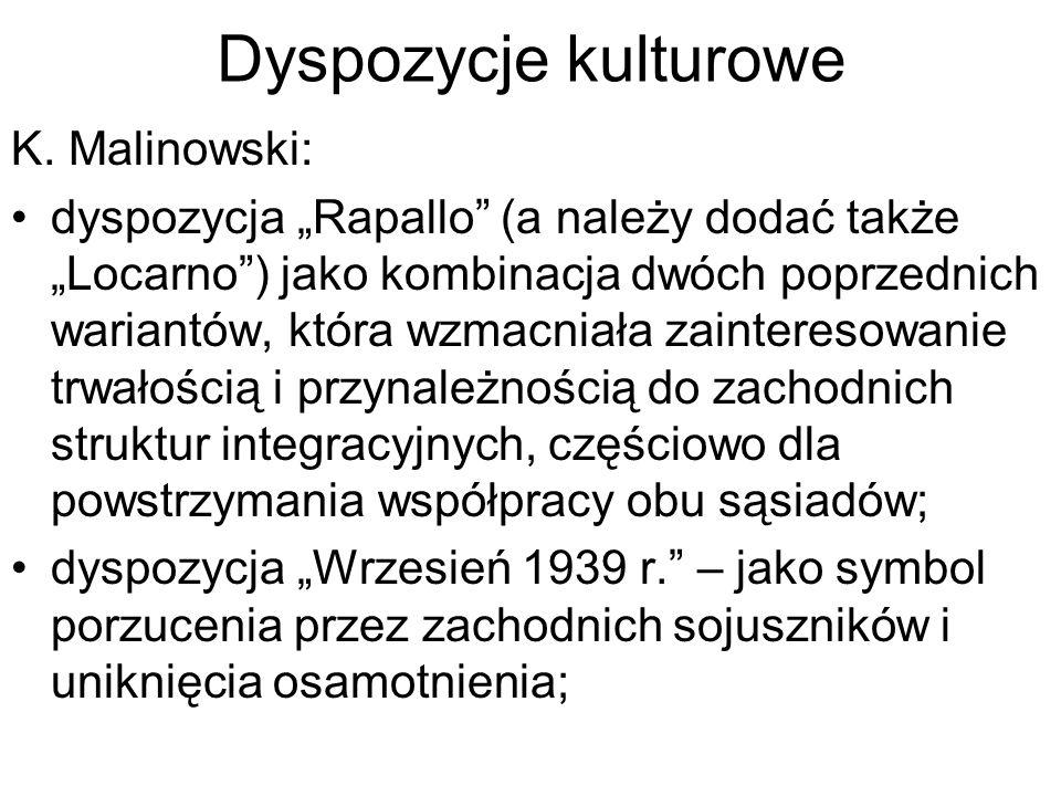 Dyspozycje kulturowe K.