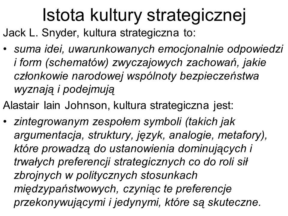 Istota kultury strategicznej Jack L.