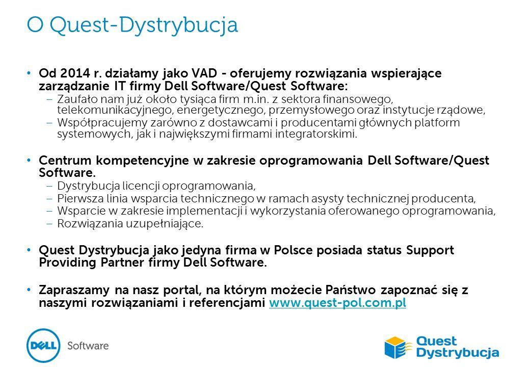 O Quest-Dystrybucja Od 2014 r.