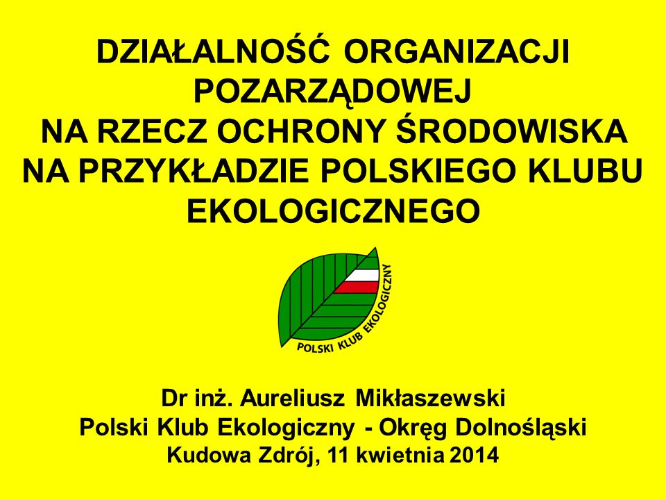 """POWSTANIE PKE Zaczęło się jesienią 1980 Powstawała """"Solidarność i Polski Klub Ekologiczny Ruch spontaniczny, tworzony w sposób demokratyczny Pierwsza w tzw."""