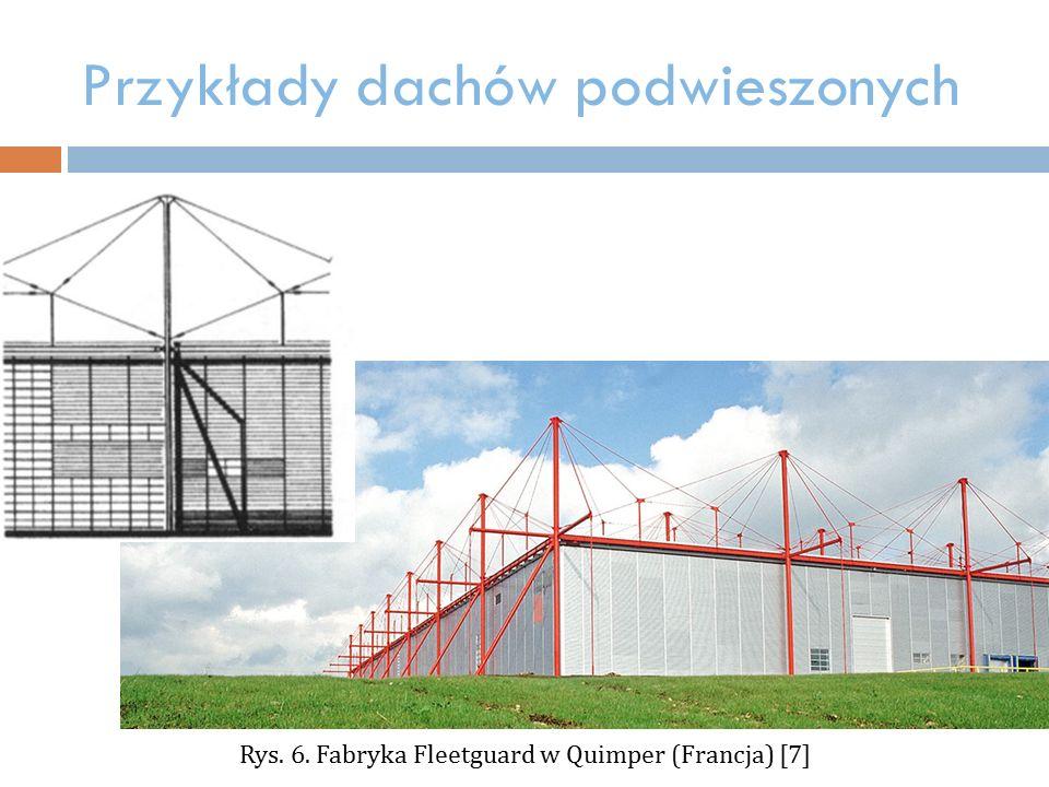 Przykłady dachów podwieszonych Rys. 6. Fabryka Fleetguard w Quimper (Francja) [7]