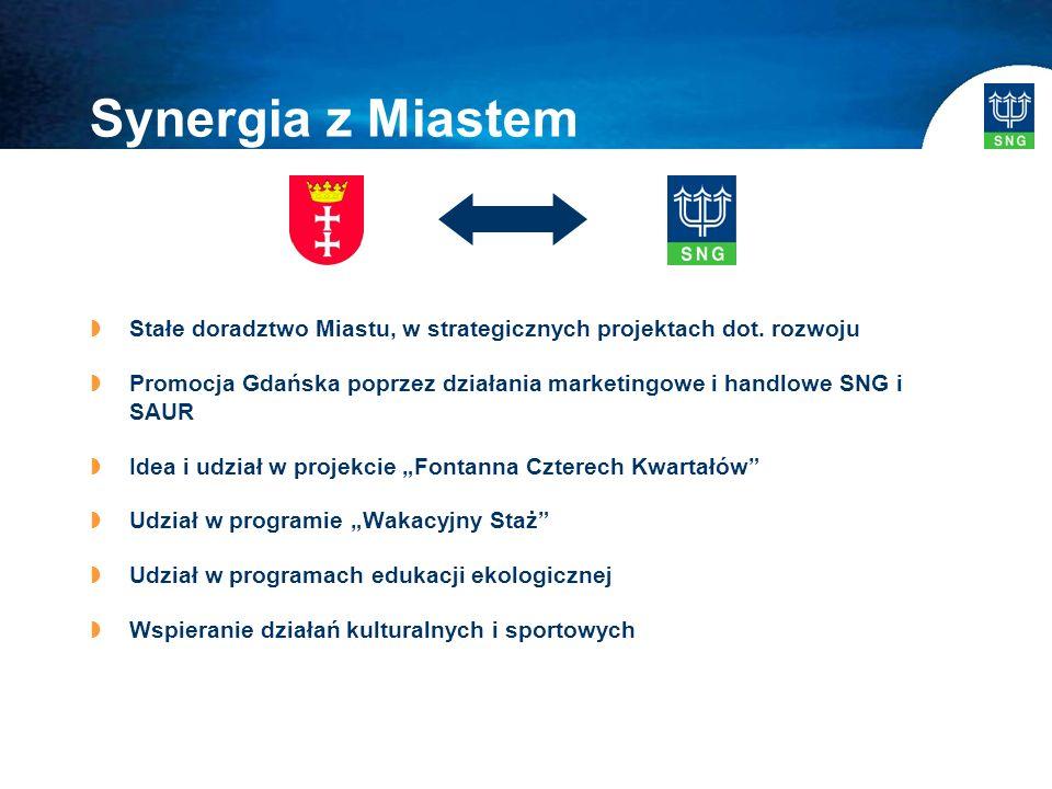 Synergia z Miastem  Stałe doradztwo Miastu, w strategicznych projektach dot.
