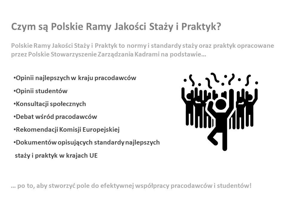 Czym są Polskie Ramy Jakości Staży i Praktyk.