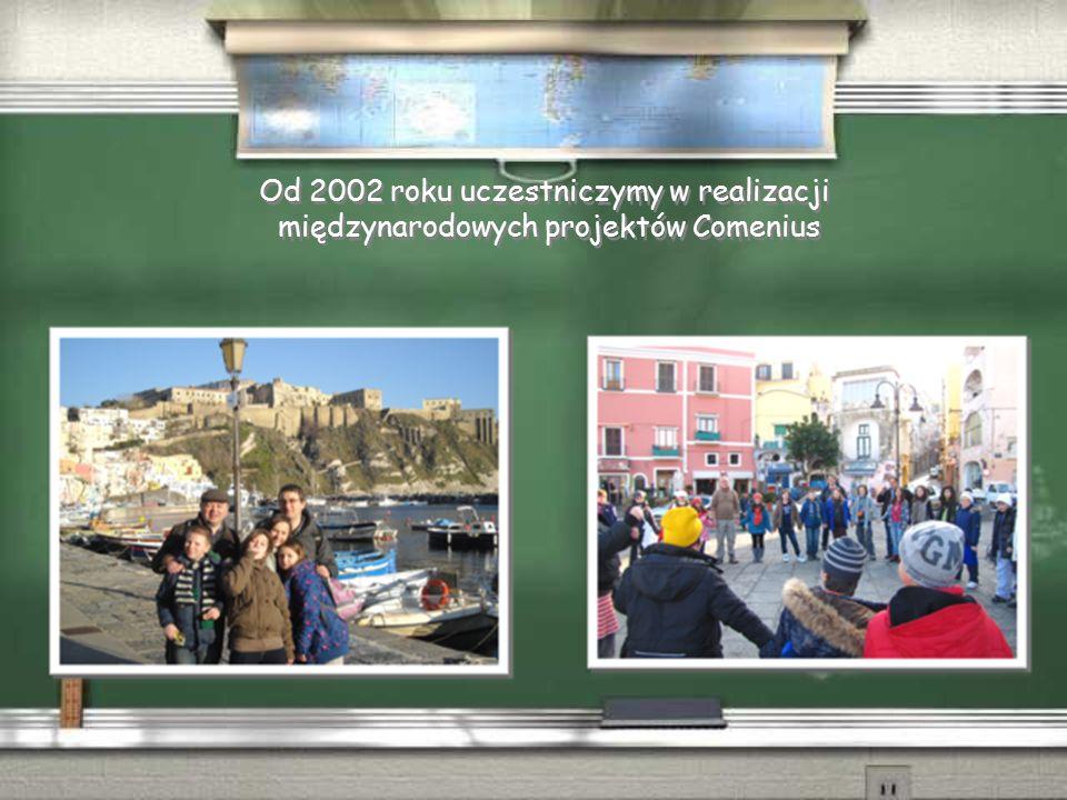 Od 2002 roku uczestniczymy w realizacji międzynarodowych projektów Comenius