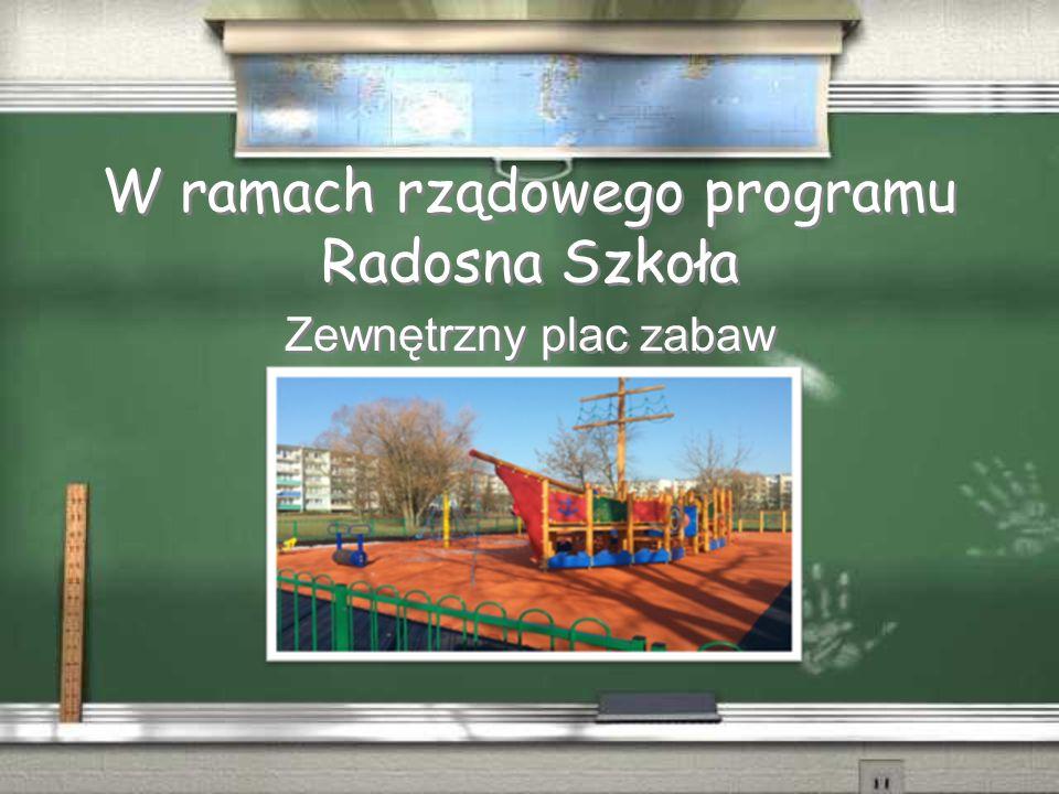 W ramach rządowego programu Radosna Szkoła Zewnętrzny plac zabaw