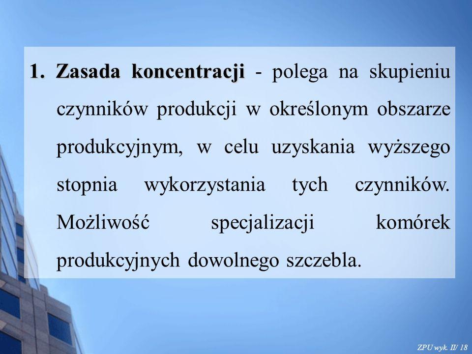ZPU wyk. II/ 18 1. Zasada koncentracji 1.