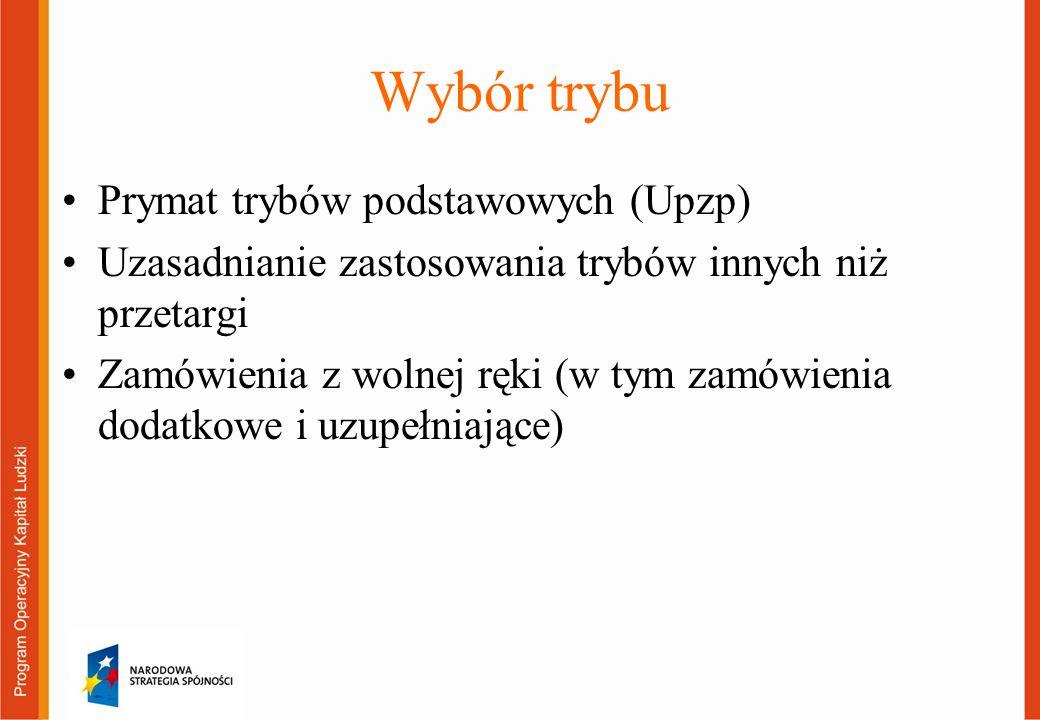 Ustalanie terminów w postępowaniach Terminy składania ofert przewidziane w Upzp i zasadzie konkurencyjności Skracanie terminów (usługi niepriorytetowe) Zmiana terminu – zmiana ogłoszenia