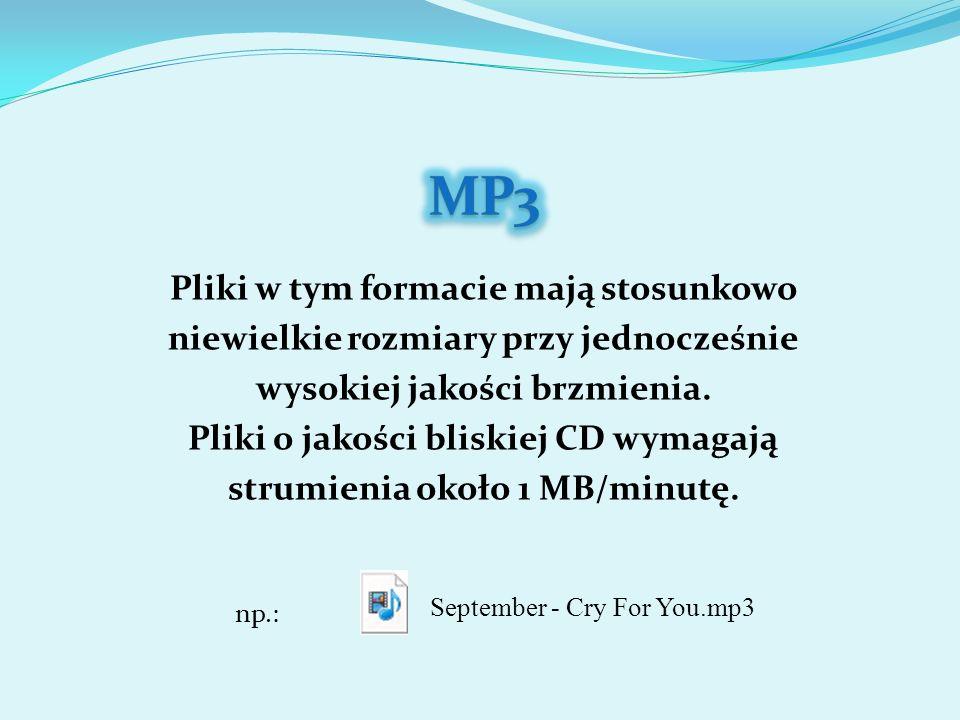 Format stworzony przez firmę Microsoft, konkurencyjny dla MP3.