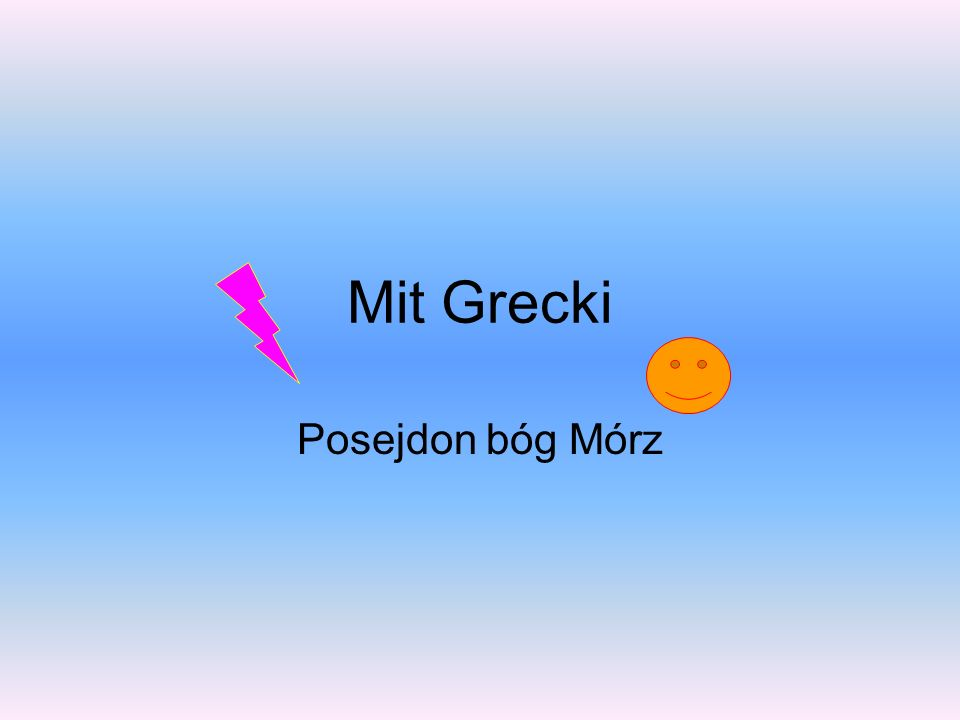 Mit Grecki Posejdon bóg Mórz