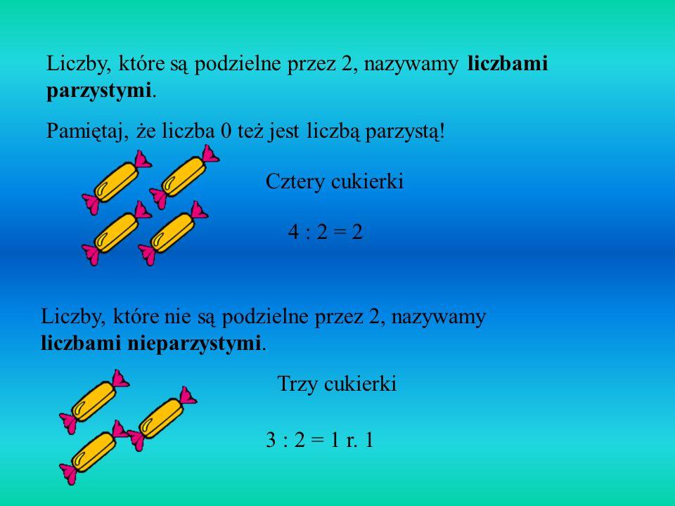4 0 = 0 4 1 = 4 4 2 = 8 4 3 = 12 4 4 = 16... Każda z tych liczb jest wynikiem pomnożenia liczby 4 przez jakąś liczbę naturalną. Takie liczby nazywamy