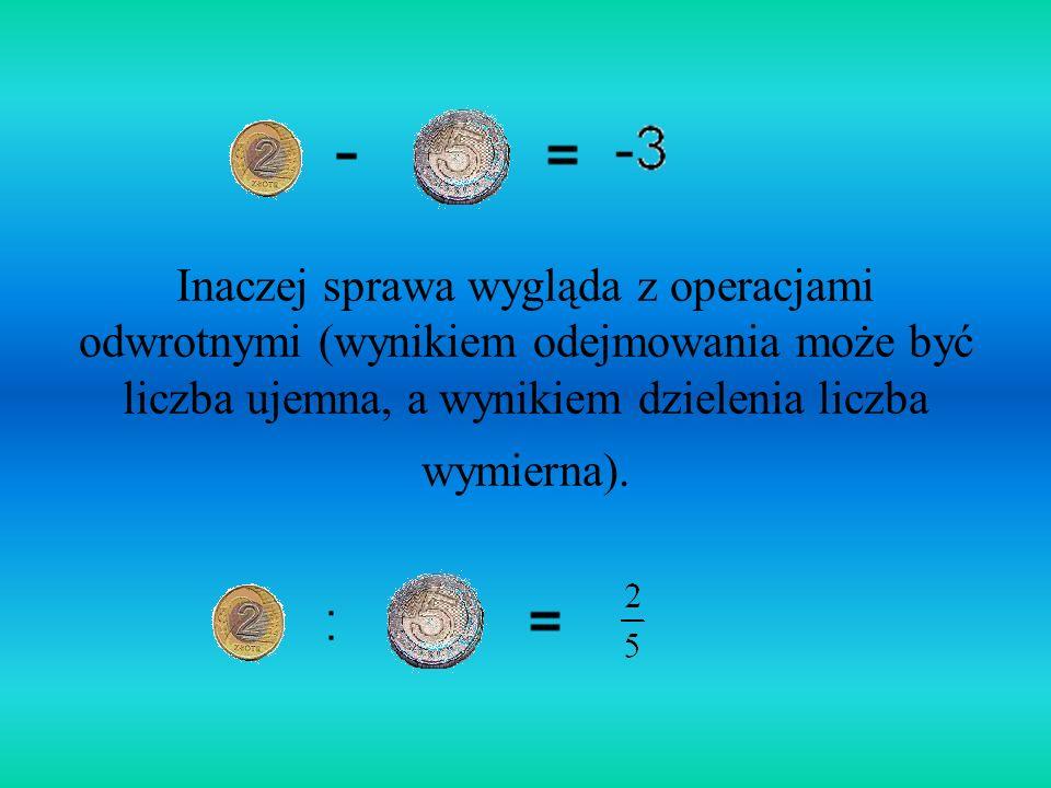 Na liczbach naturalnych określamy intuicyjnie podstawowe działania arytmetyczne: dodawanie, mnożenie. Wyniki tych dwóch działań wykonanych na liczbach