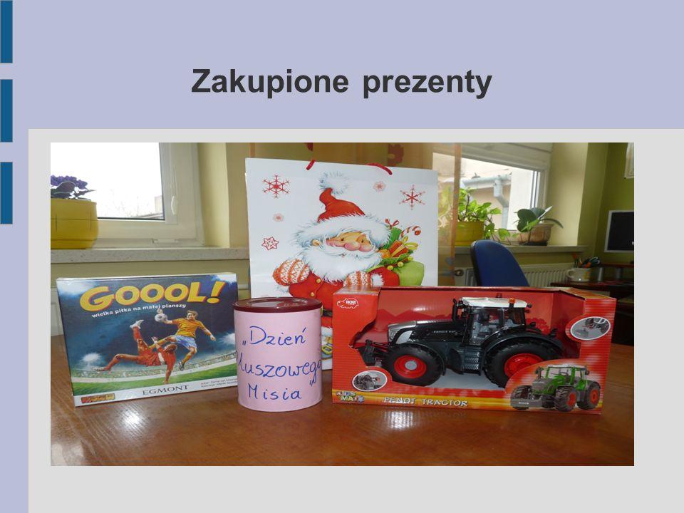 Zakupione prezenty