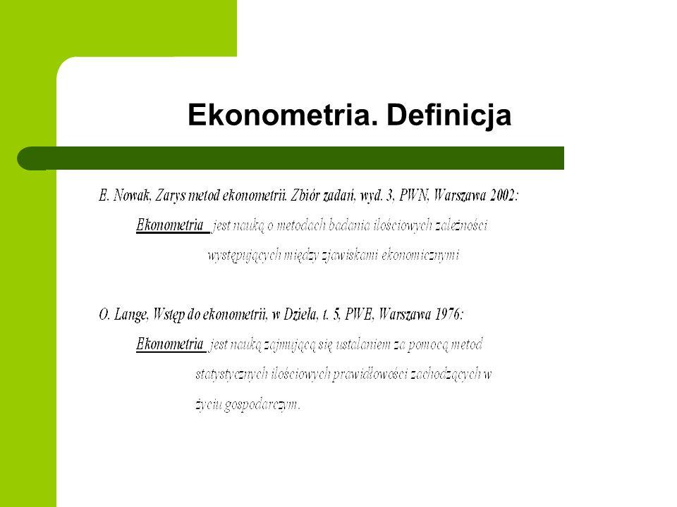 Ekonometria. Definicja
