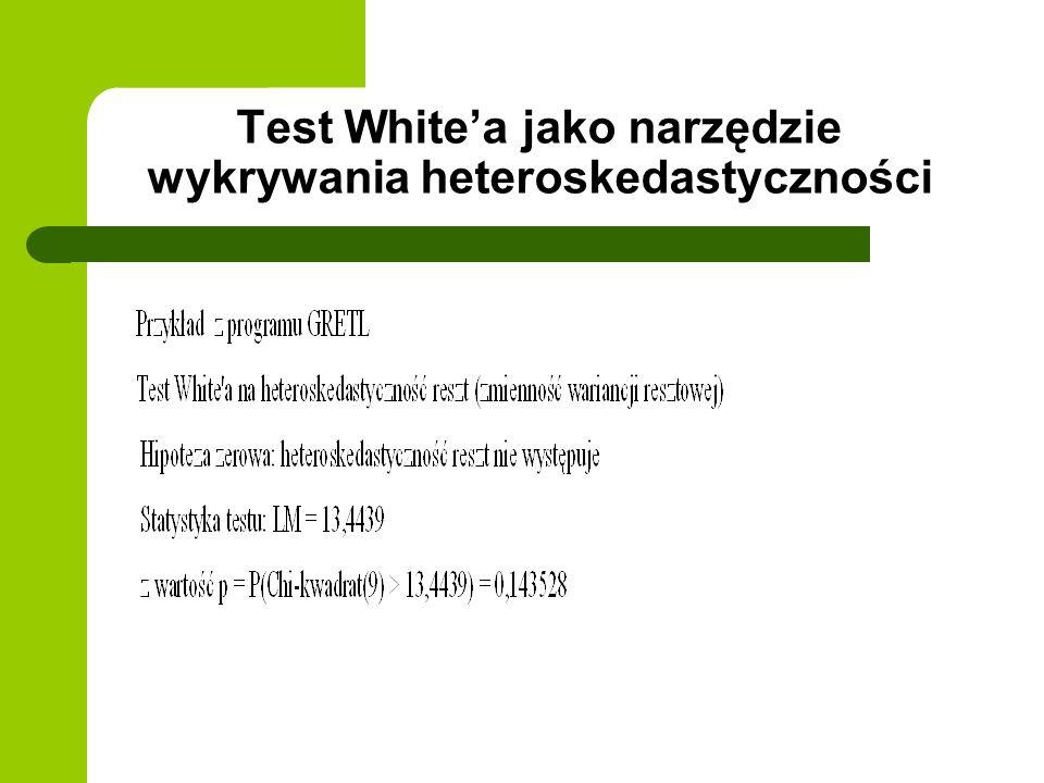 Test White'a jako narzędzie wykrywania heteroskedastyczności