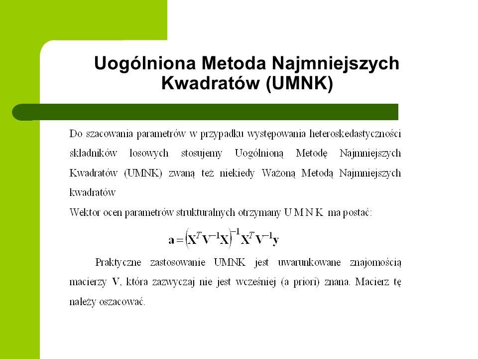 Uogólniona Metoda Najmniejszych Kwadratów (UMNK)