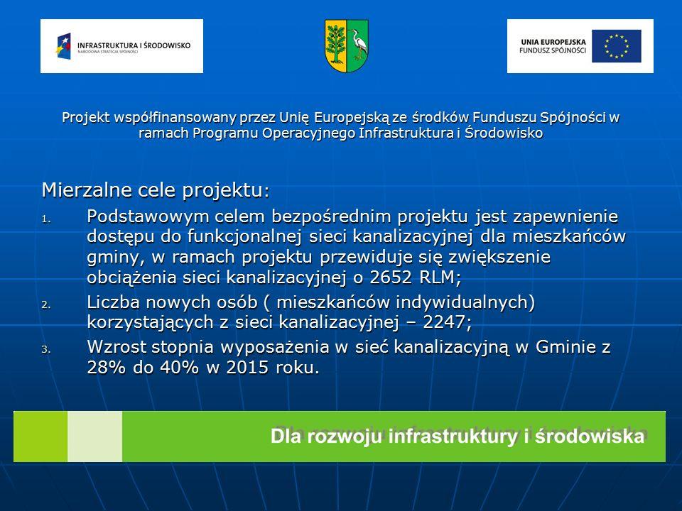 Planowany całkowity koszt realizacji projektu : Planowany całkowity koszt realizacji projektu : 23 239 531,81 zł Dofinansowanie z Unii Europejskiej ze środków Funduszu Spójności w ramach Programu Operacyjnego Infrastruktura i Środowisko, instytucja wdrażająca: Wojewódzki Fundusz Ochrony Środowiska i Gospodarki Wodnej w Toruniu Dofinansowanie z Unii Europejskiej ze środków Funduszu Spójności w ramach Programu Operacyjnego Infrastruktura i Środowisko, instytucja wdrażająca: Wojewódzki Fundusz Ochrony Środowiska i Gospodarki Wodnej w Toruniu 13 633 559,88 zł Środki własne na finansowanie kosztów kwalifikowalnych : Środki własne na finansowanie kosztów kwalifikowalnych : 7 200 049,59 zł Projekt współfinansowany przez Unię Europejską ze środków Funduszu Spójności w ramach Programu Operacyjnego Infrastruktura i Środowisko