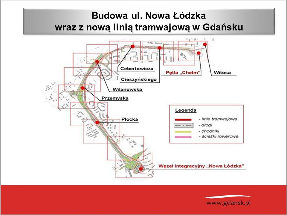 BUDOWA ULICY NOWEJ ŁÓDZKIEJ W GDAŃSKU Budowa ul.