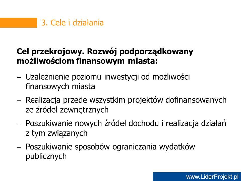 www.LiderProjekt.pl 3. Cele i działania Cel przekrojowy.