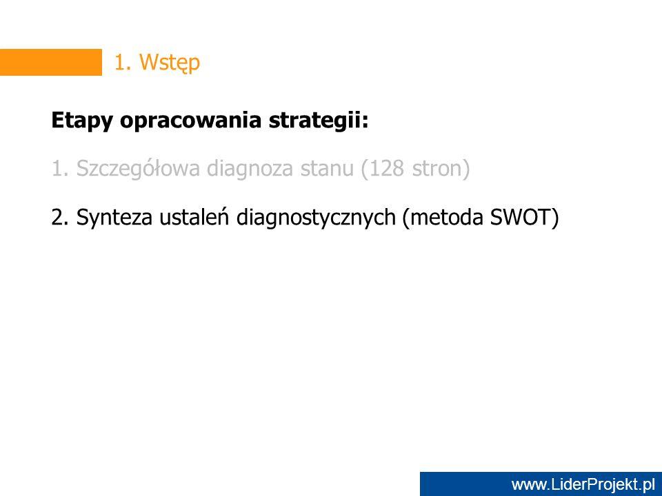 www.LiderProjekt.pl 1. Wstęp Etapy opracowania strategii: 1.