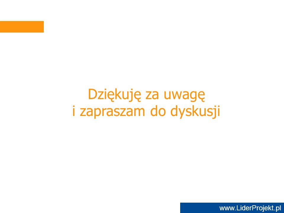 www.LiderProjekt.pl Dziękuję za uwagę i zapraszam do dyskusji