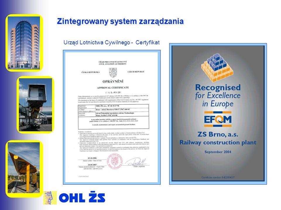 Zintegrowany system zarządzania Urząd Lotnictwa Cywilnego - Certyfikat