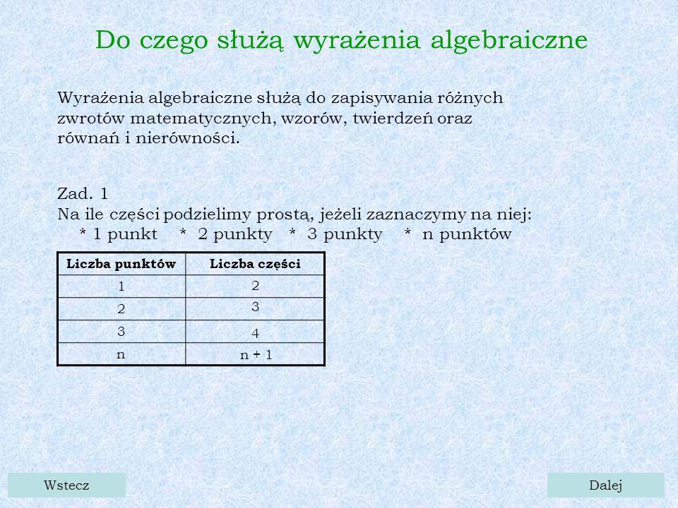 Wstecz Wzory skróconego mnożenia (a - b) × (a + b) =a 2 - ab + ab - b 2 = a 2 - b 2 ()- × () + = 2 -+- 2 = 2 - 2 (5 x + 2 y) × (5 x - 2 y) = (5 x) 2 – (2 y) 2 = 25 x 2 - 4 y 2