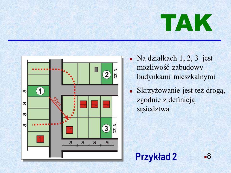 n Można ustalić L.z. dla działki Przykład 11 n 19 TAK